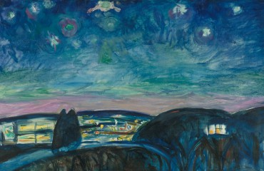Edvard Munch - Sterrennacht (detail), 1922, Munchmuseum.