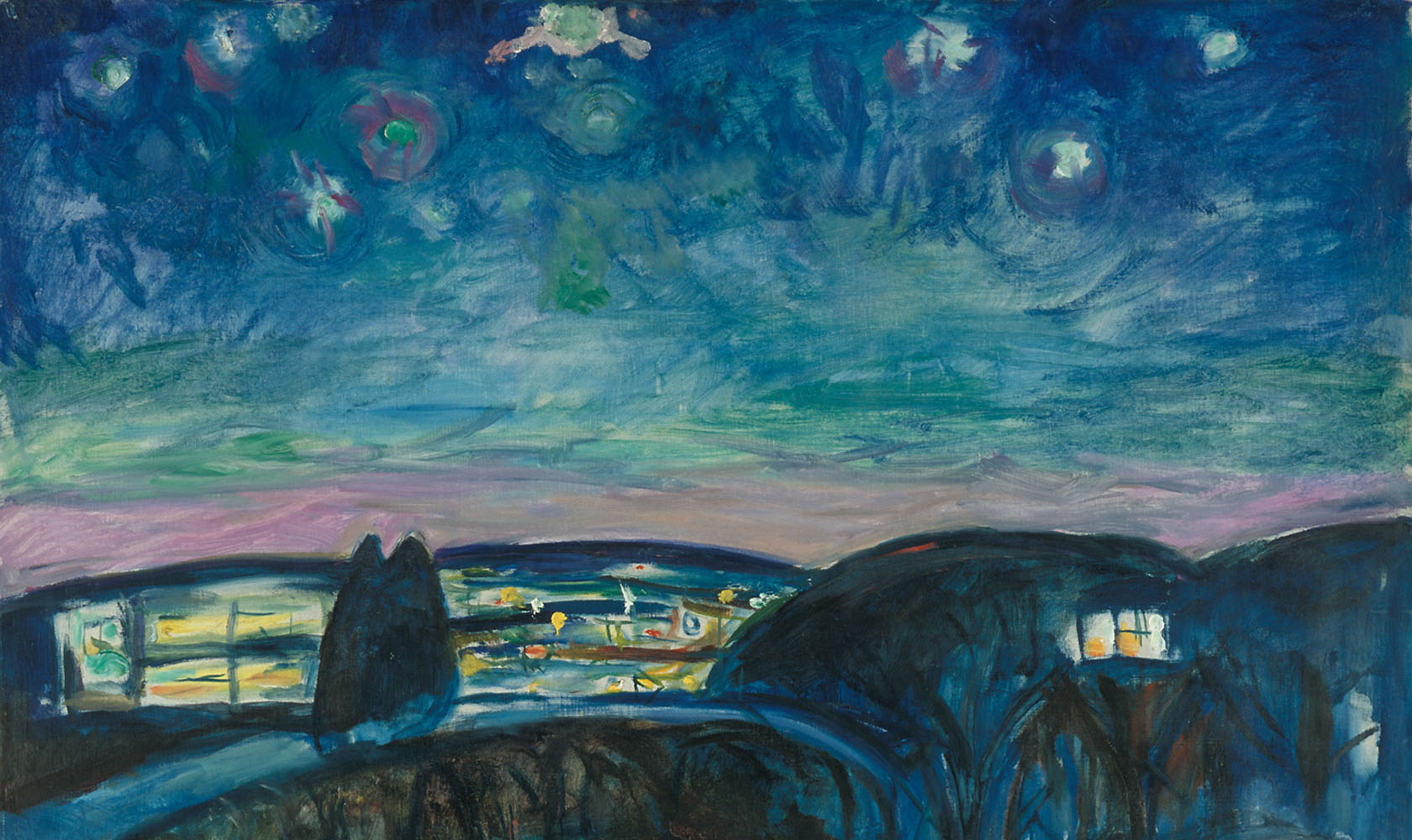 Edvard-Munch-Sterrennacht-detail-1922-Munchmuseum
