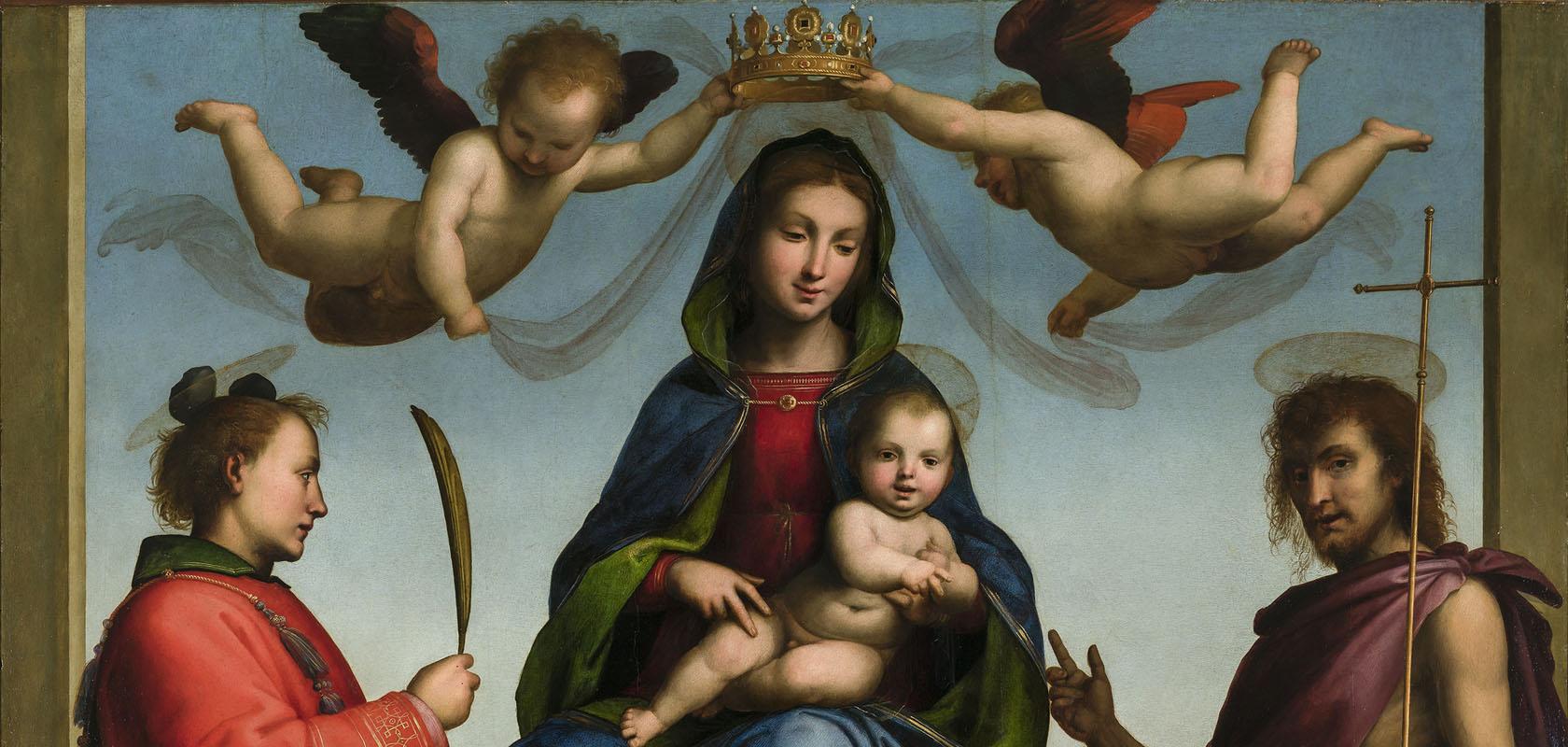 Fra-Bartolommeo-Tronende-Maria-en-Christuskind-met-de-heiligen-Stefanus-en-Johannes-de-Doper-1509-Lucca-San-Martinokathedraal