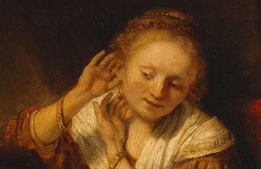 Rembrandt, Jonge vrouw met oorbellen, 1656 - State Hermitage Museum, St Petersburg