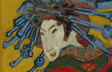 Courtisane (naar Eisen) , Vincent van Gogh, 1887, Van Gogh Museum.