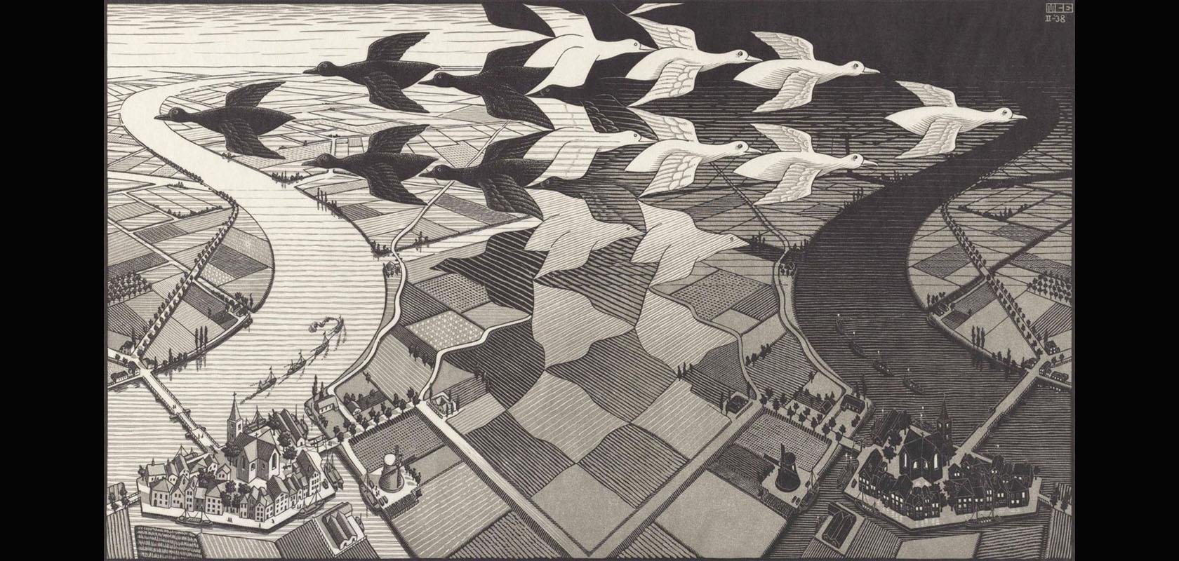 Dag-en-Nacht-1938-M.C.-Escher-the-M.C.-Escher-Company-B.V.-All-rights-reserved