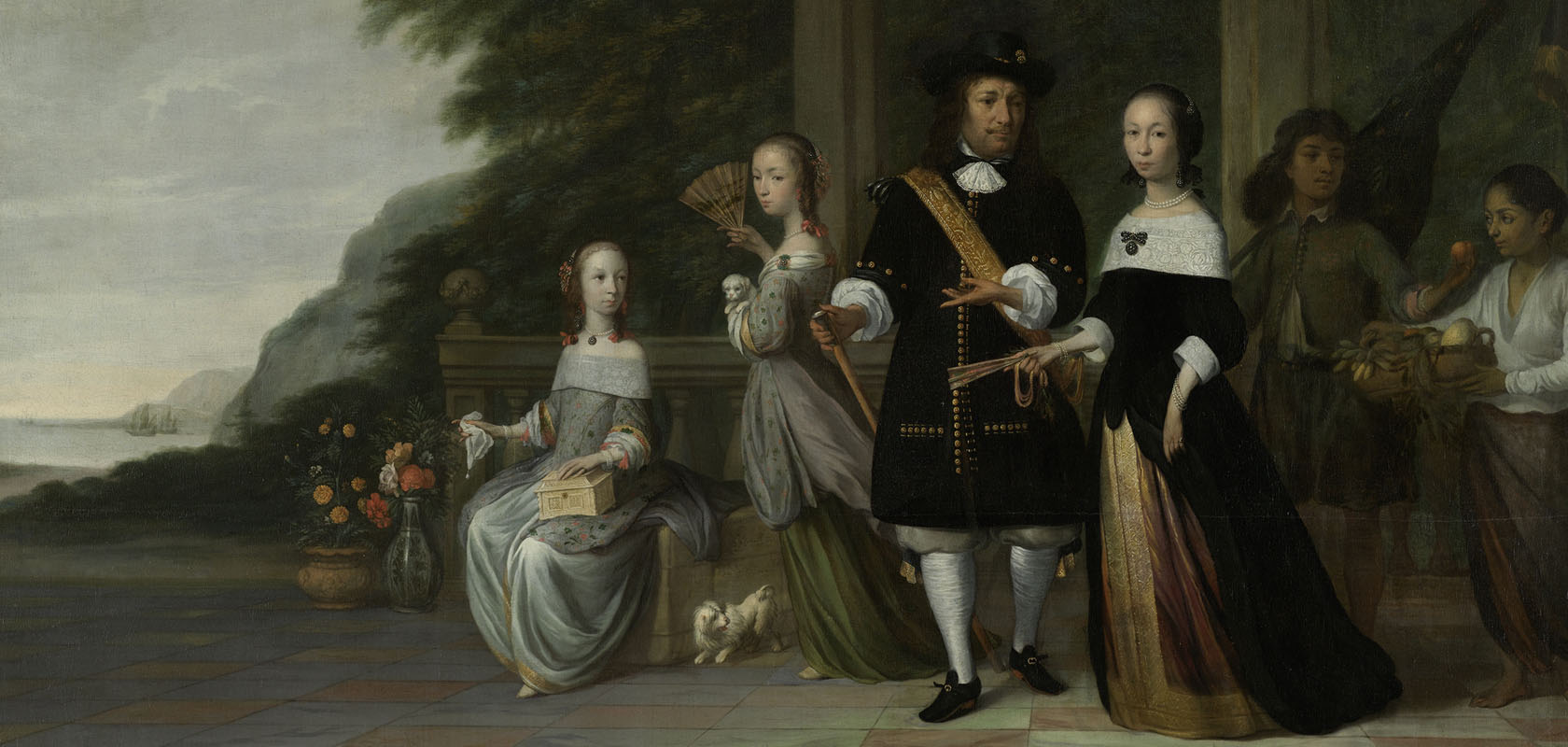 Jacob-Coeman-Surapati-en-een-tot-slaaf-gemaakte-bediende-naast-de-familie-Cnoll-1665-Rijksmuseum-1680x800-1